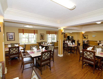 Dinning room at Sun City Senior Living
