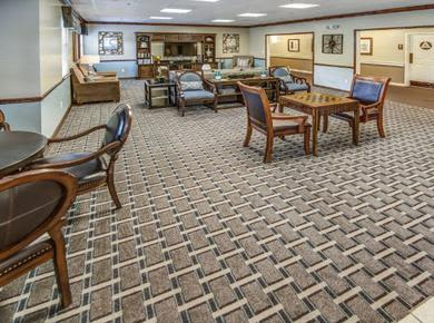 Game room at Pacifica Senior Living Woodmont