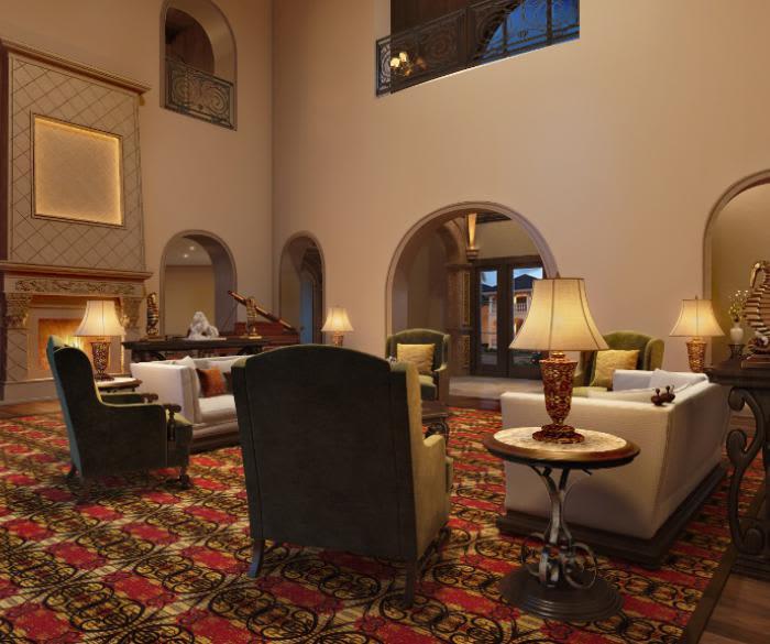 Pacifica Senior Living Oceanside offers a luxury living room in Oceanside, California