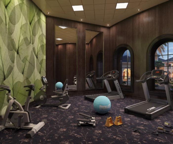 Unique fitness center at apartments in Oceanside, California