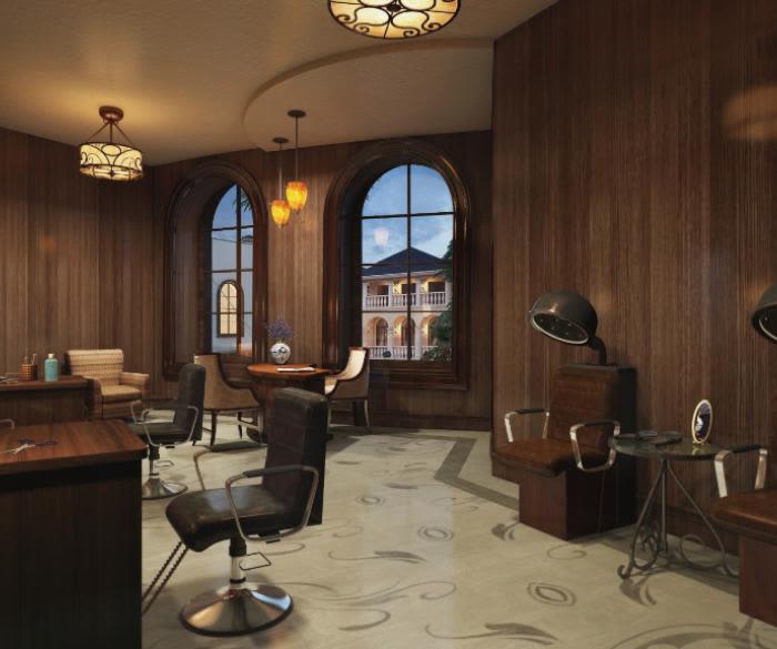 Beautiful hair salon at apartments in Oceanside, California