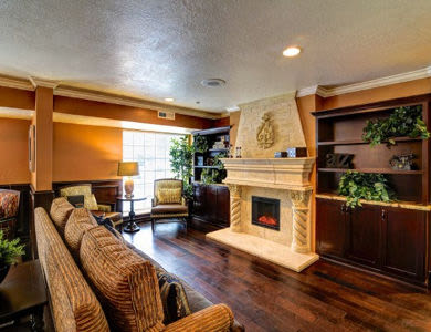 Living room at Pacifica Senior Living Millcreek in Salt Lake City, UT