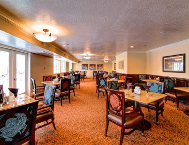 Beautiful dining room at Pacifica Senior Living Millcreek