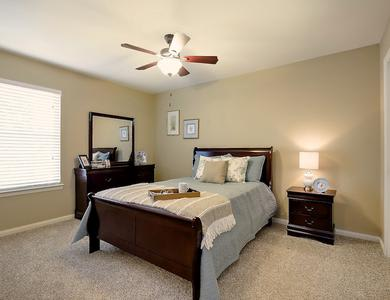Beautiful bedroom at NewForest Estates in San Antonio, Texas