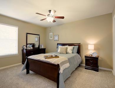 Beautiful bedroom at NewForest Estates in San Antonio, Texas