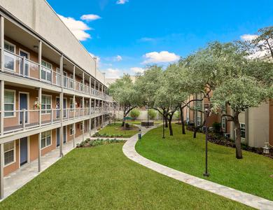 Enjoy apartments with spacious walking paths at NewForest Estates
