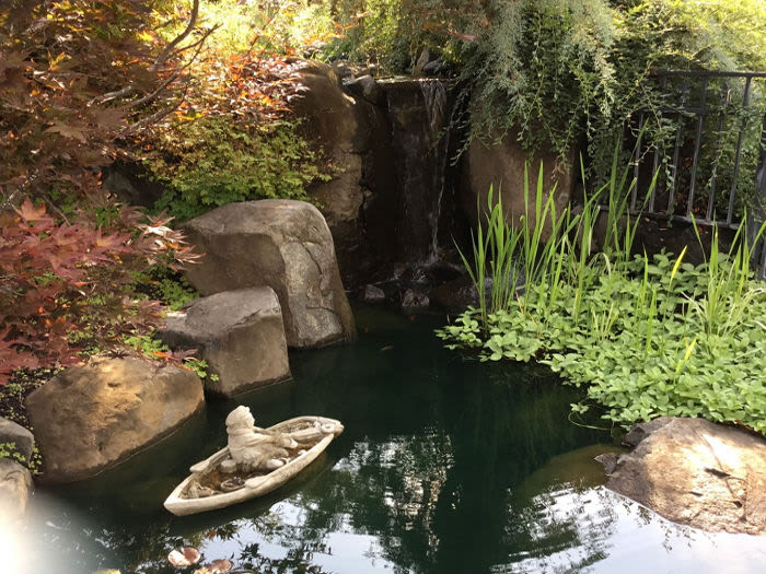 Water feature at our senior living facility at Courtyard at Coeur d'Alene