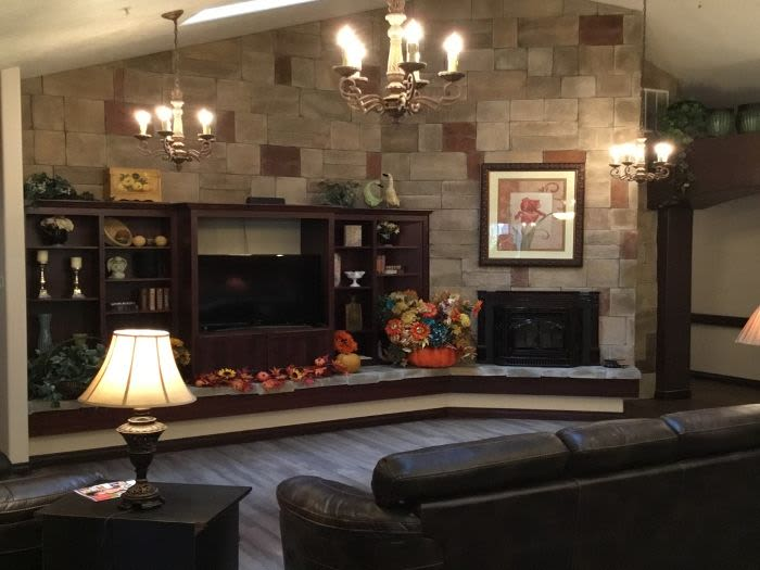 Our TV area at Courtyard at Coeur d'Alene