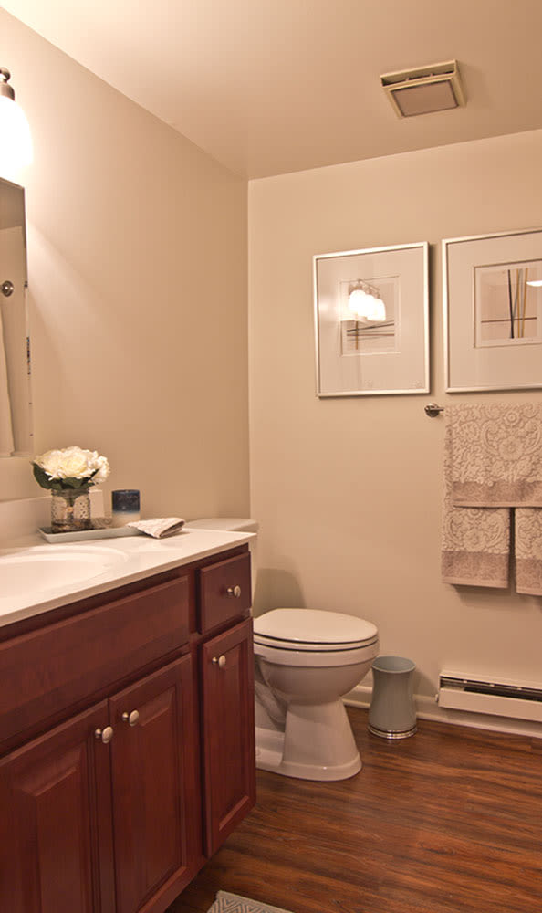 Spacious bathroom at The Reserve at Copper Chase in York, PA