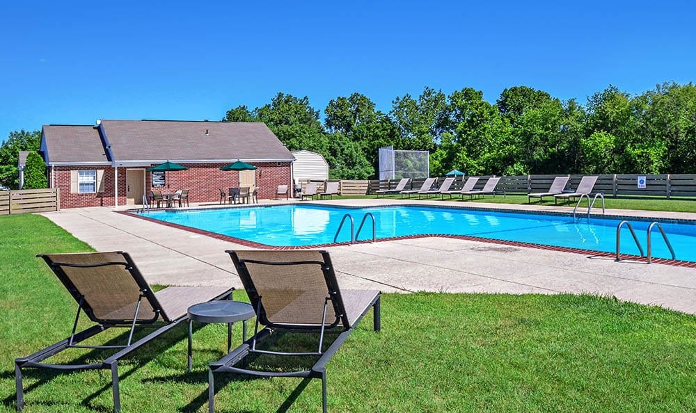 A swimming pool that is great for entertaining at The Reserve at Copper Chase in York, PA