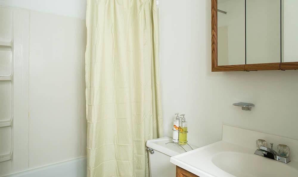 Bathroom view at Lakeshore Villas in Port Ewen, NY