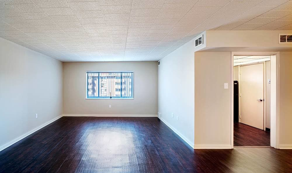 Hardwood floors at Avalon Arms Apartments in Avalon, PA