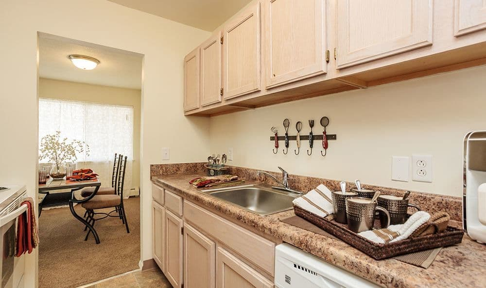 Fully-equipped kitchen at Brookwood on the Green home in Liverpool, NY