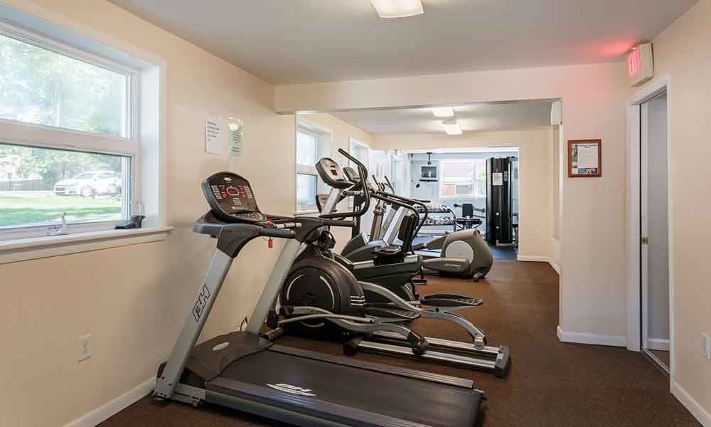 Stay healthy in our fitness center at Sunset Garden Apartments in Kingston, NY
