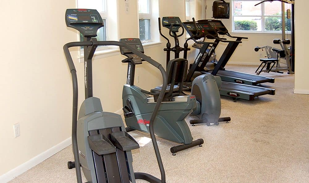 Fitness center at Sunset Garden Apartments in Kingston, NY