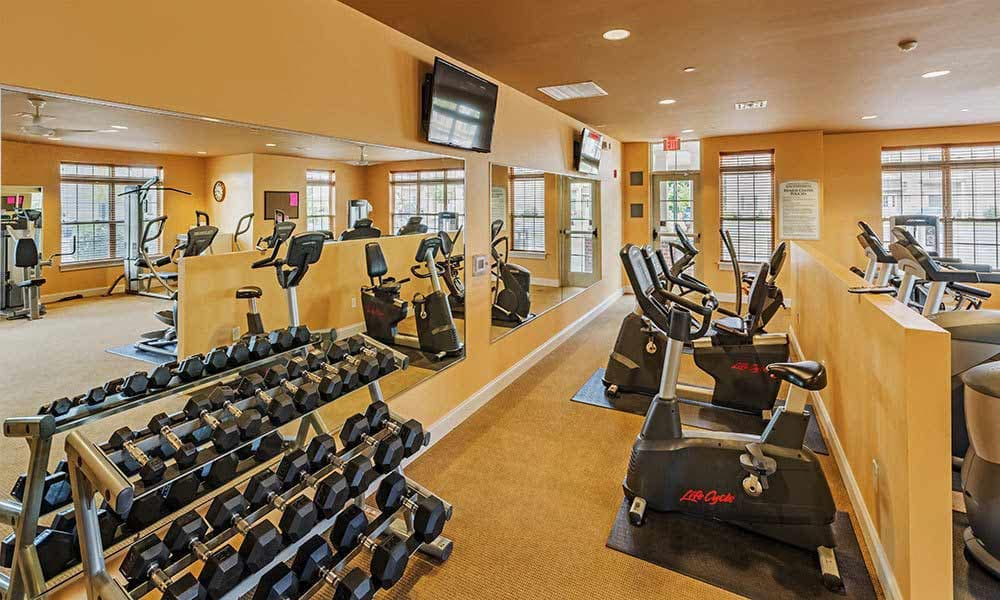 Fitness center at Reserve at Southpointe in Canonsburg
