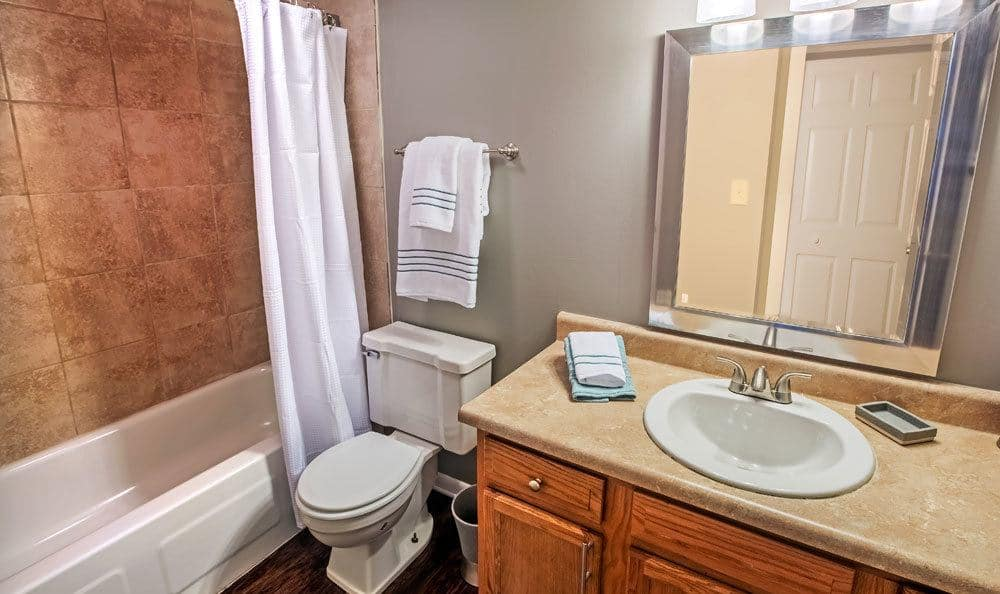 Example bathroom at apartments in Columbus