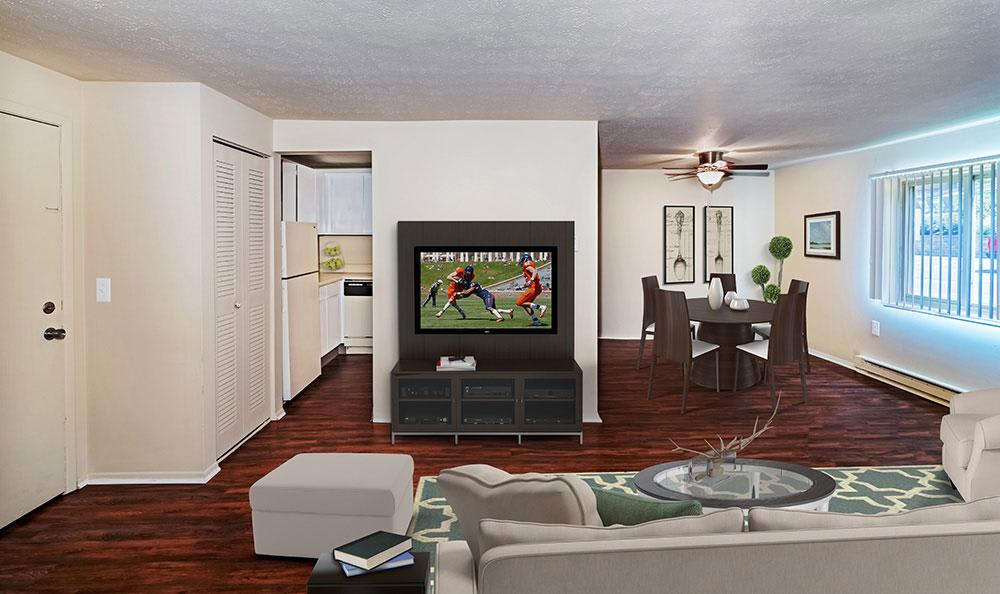 Model Living Room at Park Place of South Park in South Park