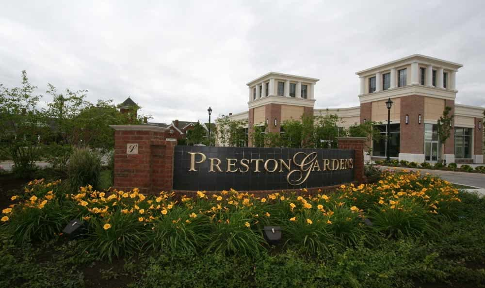 Preston Gardens monument sign in Perrysburg, OH