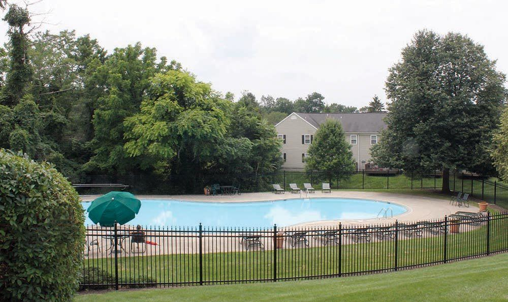 Enjoy the sparkling pool at The Encore at Laurel Ridge in Harrisburg
