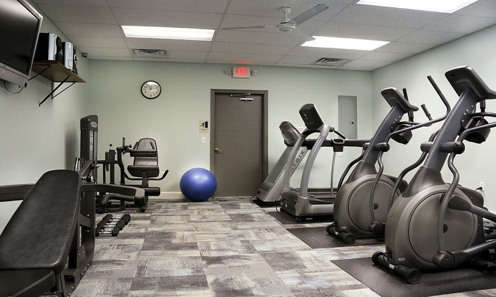 Stay healthy in our fitness center at The View at Mackenzi in York, PA