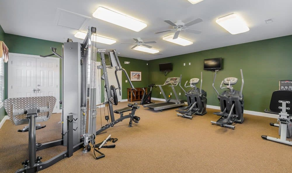 Stay healthy in our fitness center at Cannon Mills in Dover, DE