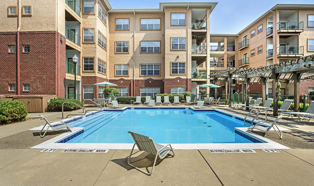 Resort Style Pool At Morgan at North Shore In Pittsburgh, PA