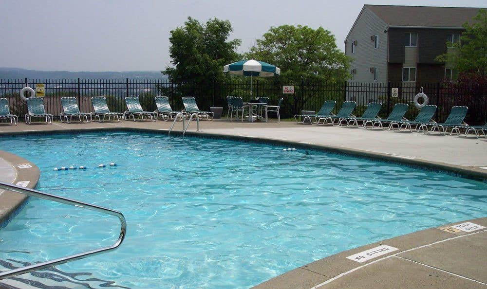 Sparkling swimming pool at Highland Club in Watervliet, NY