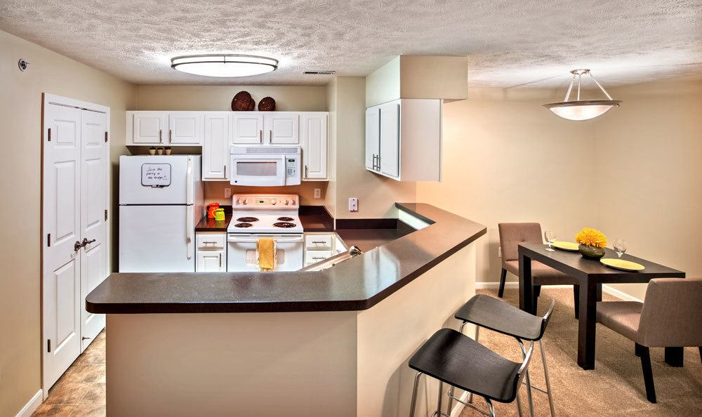 Bright kitchen at Waterford Nevillewood Apartments in Presto, PA