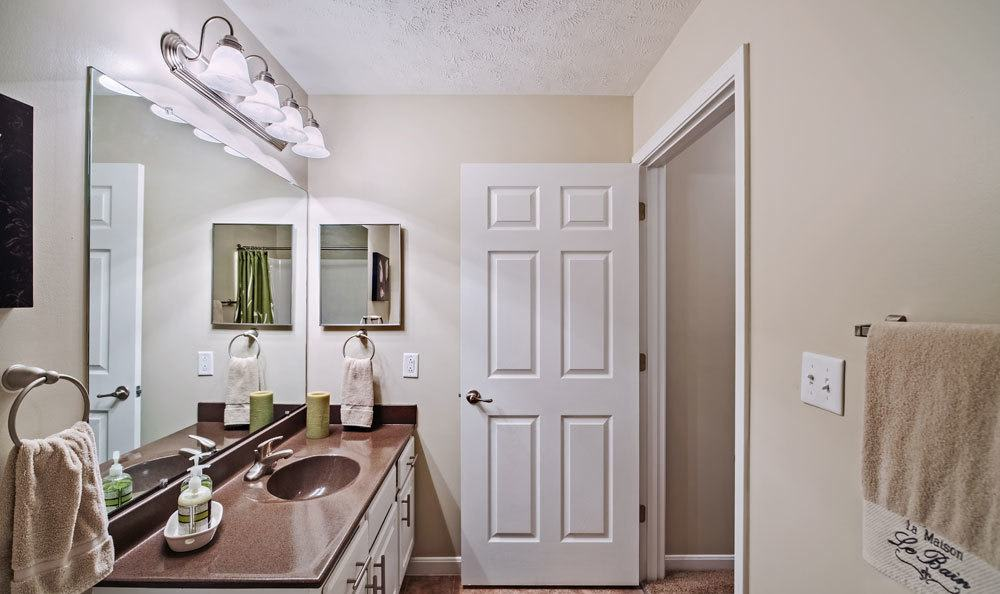 Example bathroom at apartments in Presto, PA