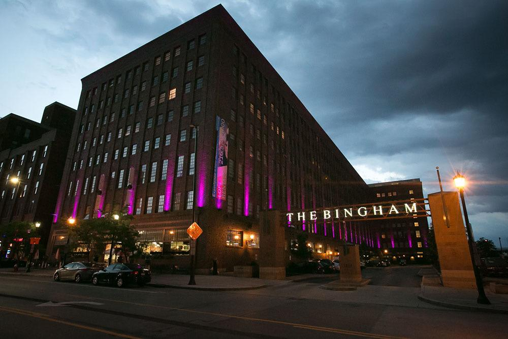 Exterior of the apartments at The Bingham