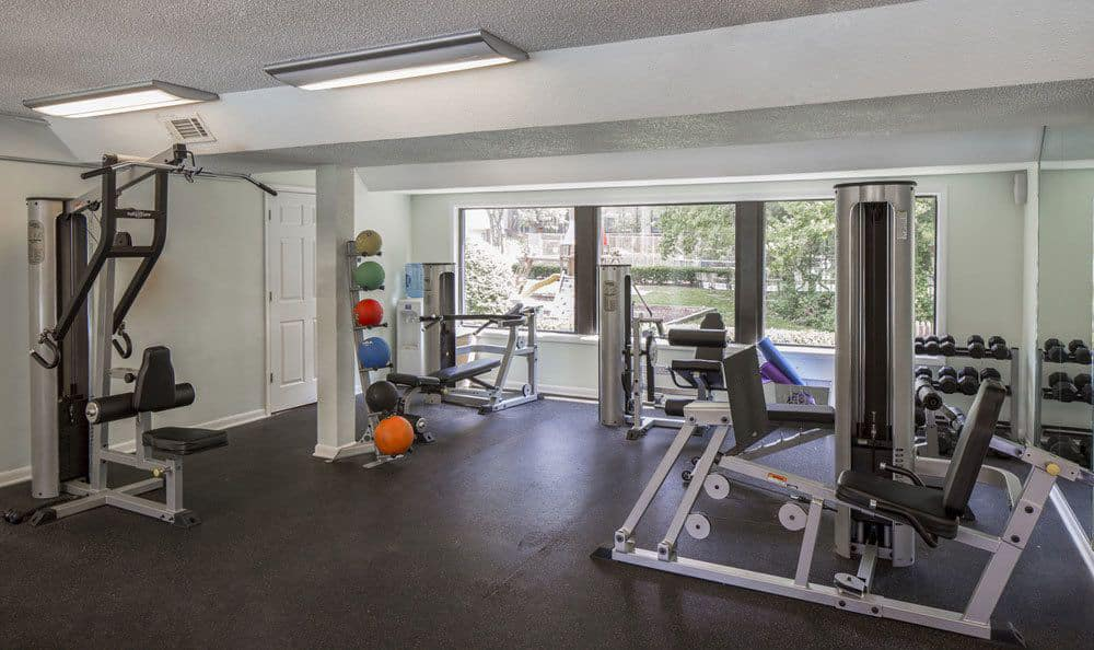Fitness center at The Trails of North Hills