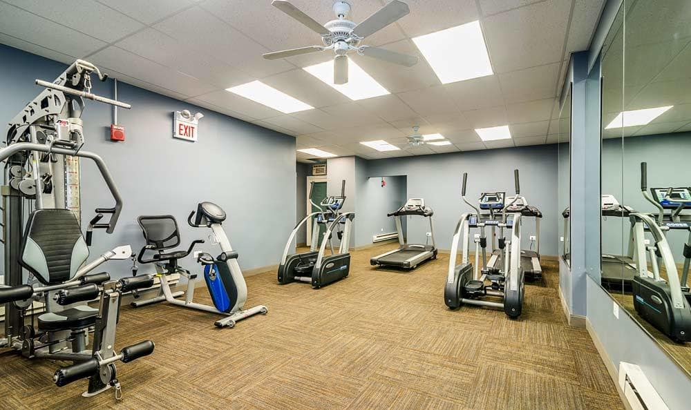 Exercise equipment at 7100 South Shore Drive Apartments in Chicago