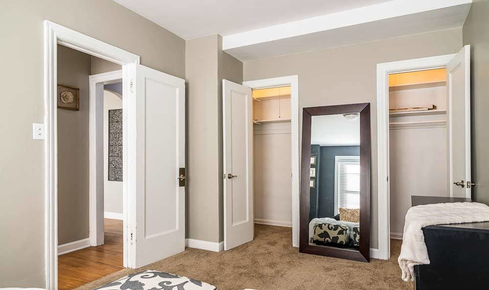 Closets in bedroom at 7100 South Shore Drive Apartments in Chicago