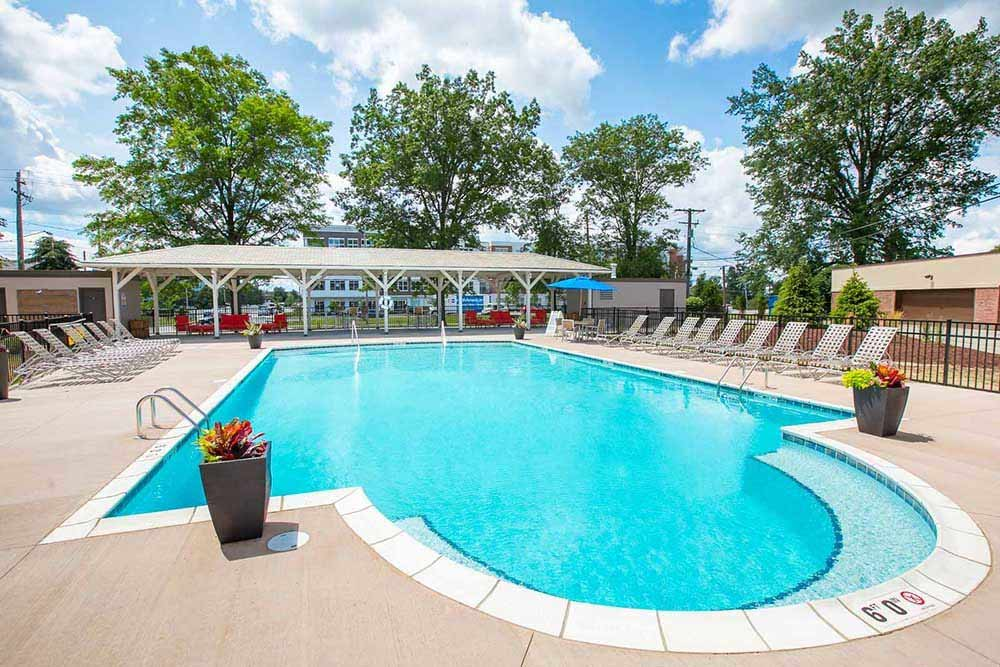 Pool at Deville Apartments in Beachwood