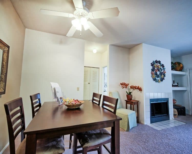 Spacious dining area  at Perry's Crossing Apartments