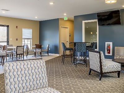 Clubhouse interior at The Lakes at 8201 in Merrillville, Indiana