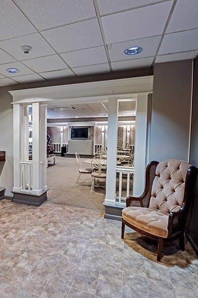 Clubhouse interior at Maiden Bridge and Canongate Apartments in Pittsburgh, PA