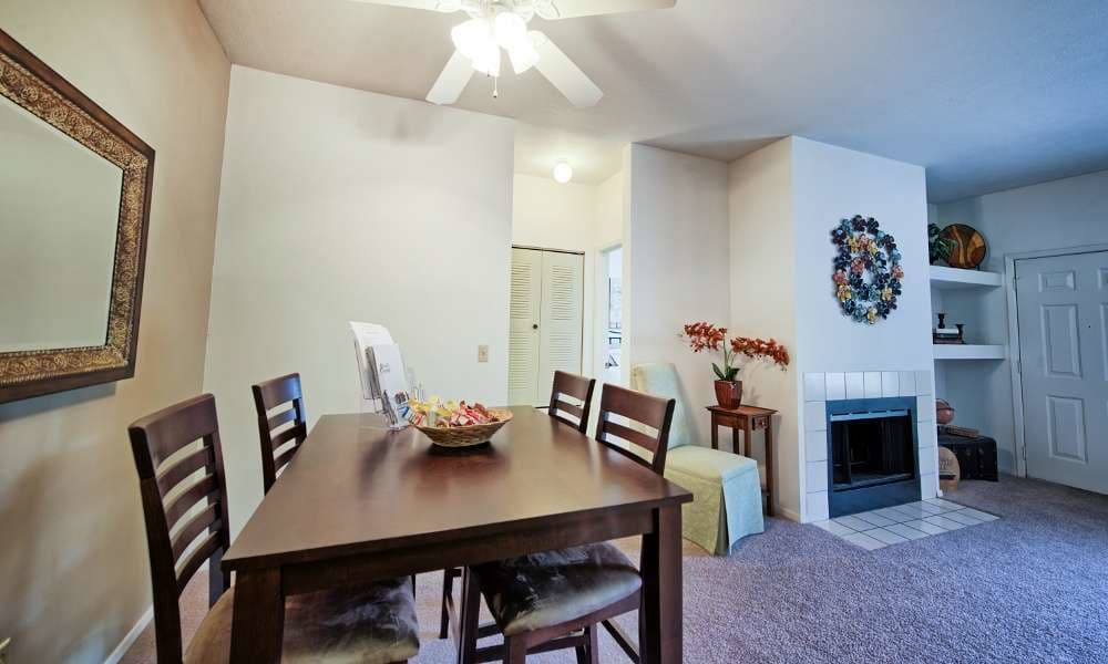 Ample dining area at Perry's Crossing Apartments in Perrysburg