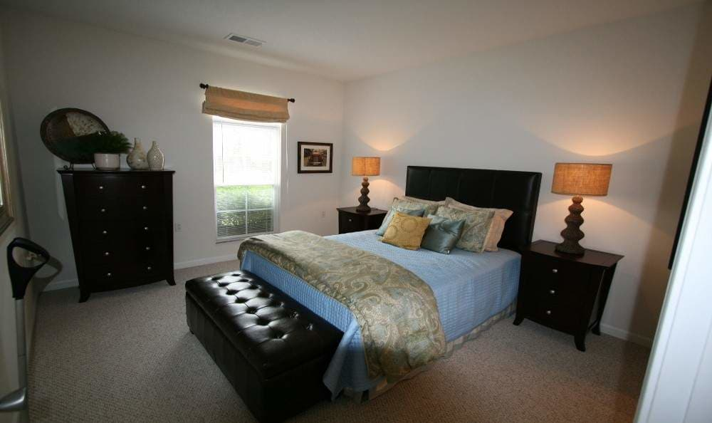 Cozy bedroom at Preston Gardens in Perrysburg