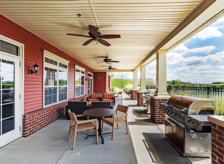Outdoor bbq lounge at Reserve at Southpointe in Canonsburg
