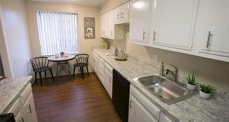 Modern kitchen at Deville Apartments