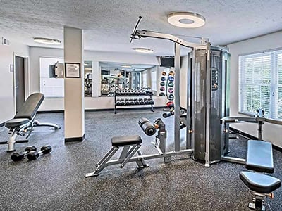 Fitness center at The Edge At Arlington