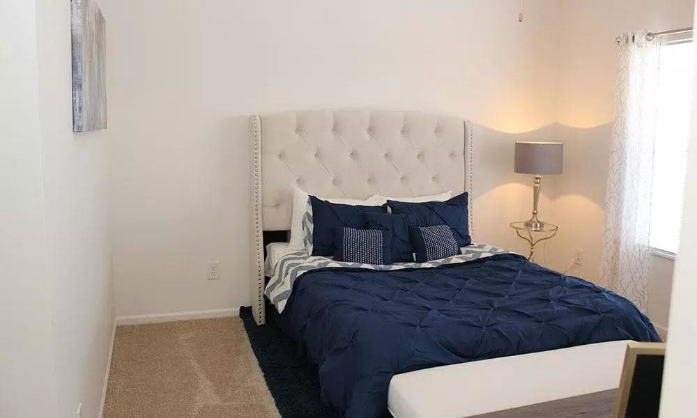 Bright inviting bedroom at Easton Commons