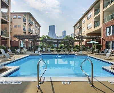 Sparkling swimming pool at Morgan at North Shore in Pittsburgh