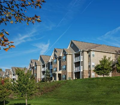 Exterior view of apartments at Waterford Nevillewood Apartments in Presto