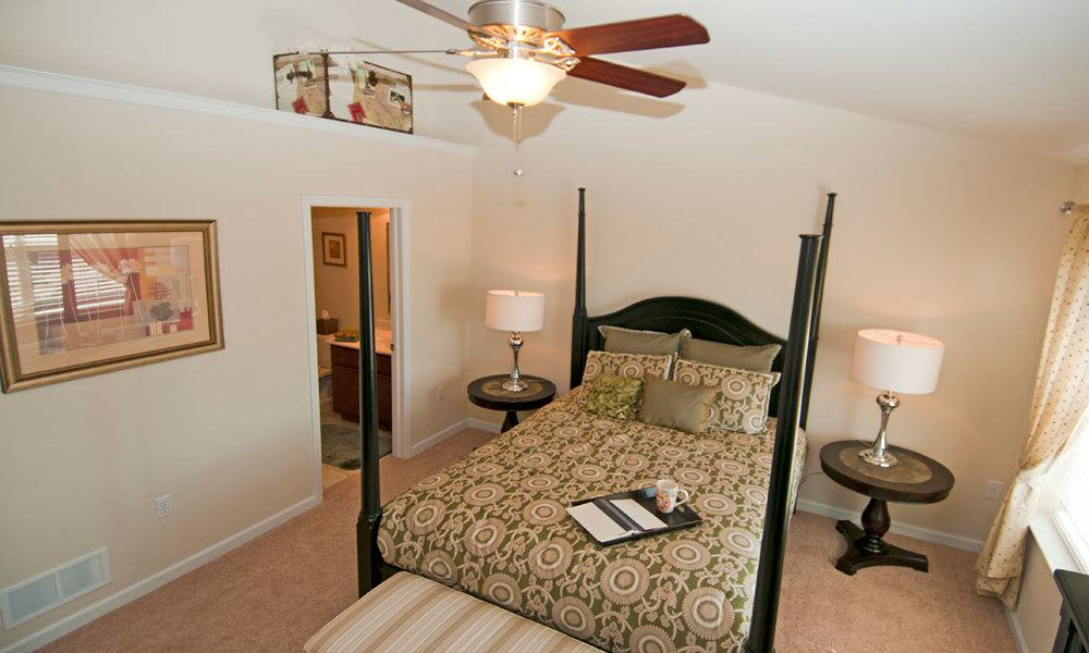 Spacious bedroom at Emerald Pointe Townhomes in Harrisburg, PA
