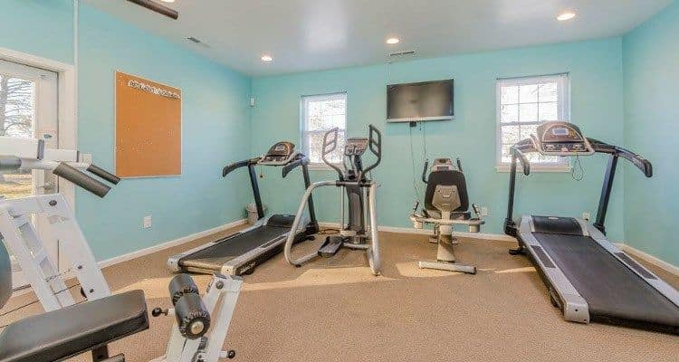 Fitness center at Eagle Meadows Apartments