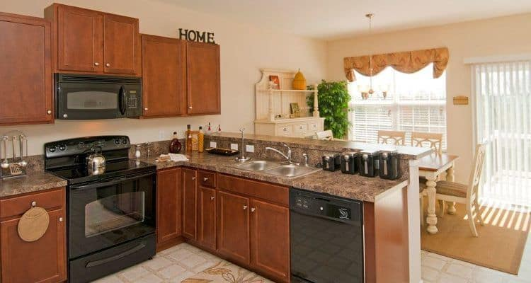 Upgraded kitchen at Emerald Pointe Townhomes in Harrisburg, PA