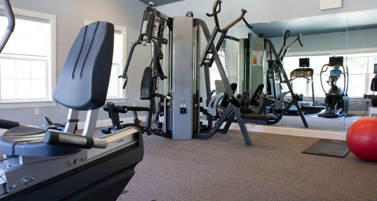 Well equipped fitness center in apartments in Harrisburg, Pennsylvania